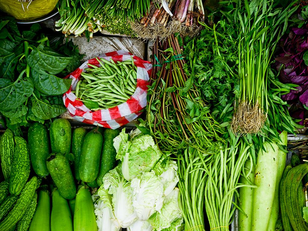 Des légumes à feuilles vertes